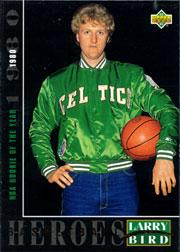1992-93 Upper Deck Larry Bird Heroes #20 Larry Bird/1979-80 Rookie of the Year