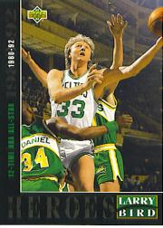 1992-93 Upper Deck Larry Bird Heroes #21 Larry Bird/1980-92 12-Time All-Star front image