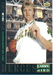 1992-93 Upper Deck Larry Bird Heroes #22 Larry Bird/1981-86 Three NBA Championships