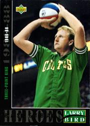 1992-93 Upper Deck Larry Bird Heroes #24 Larry Bird/1986-88 3-Point King