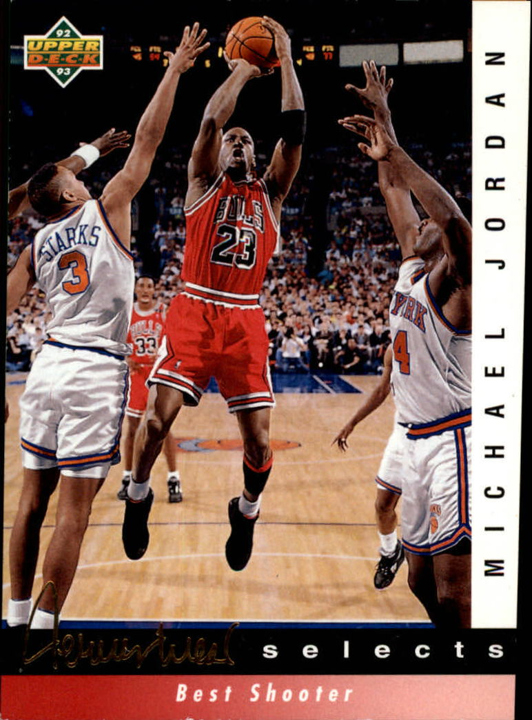 1992-93 Upper Deck Jerry West Selects #JW1 Michael Jordan/Best Shooter