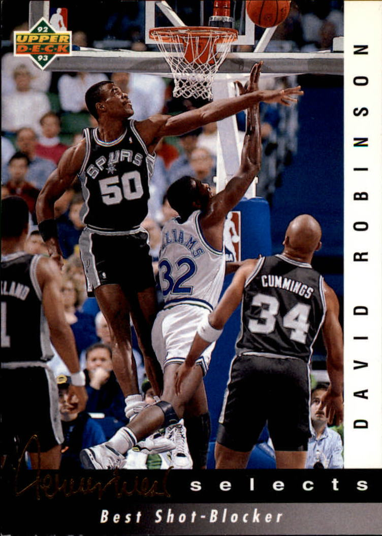 1992-93 Upper Deck Jerry West Selects #JW3 David Robinson/Best Shot Blocker