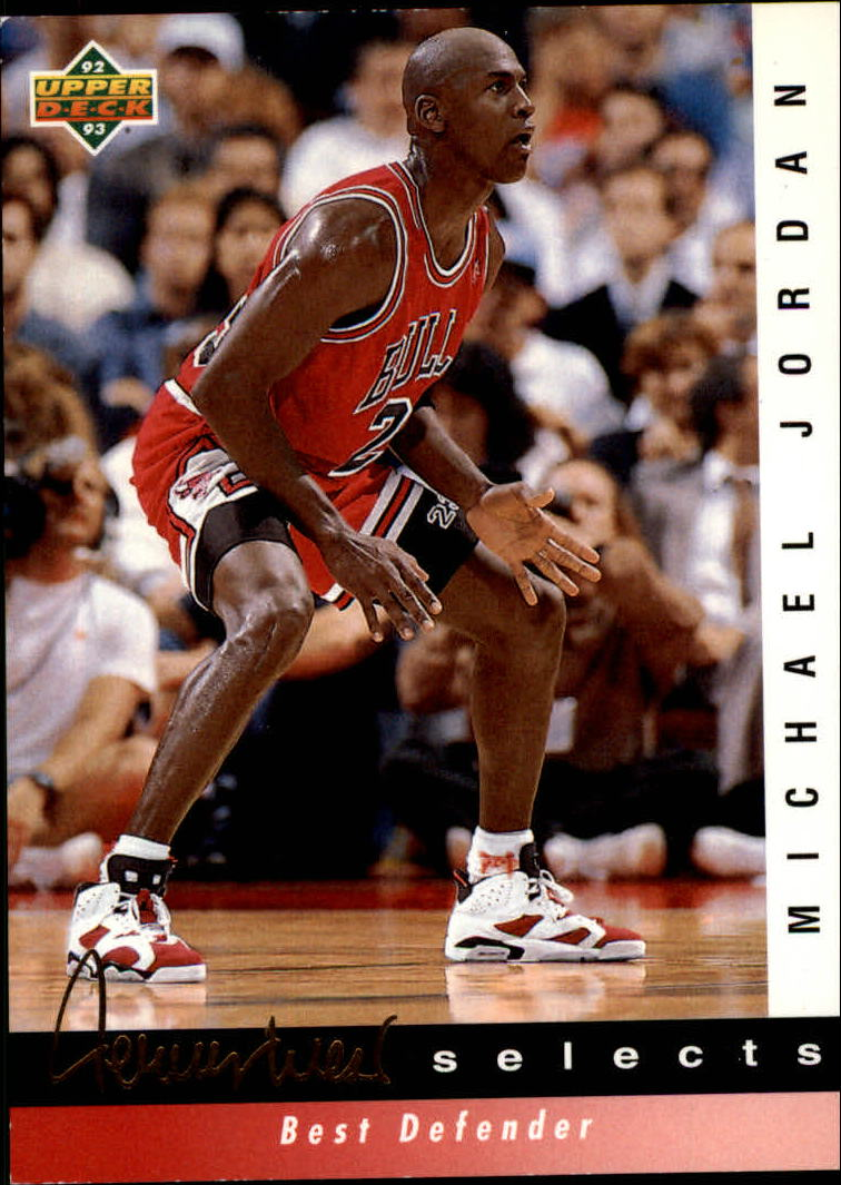 1992-93 Upper Deck Jerry West Selects #JW4 Michael Jordan/Best Defender