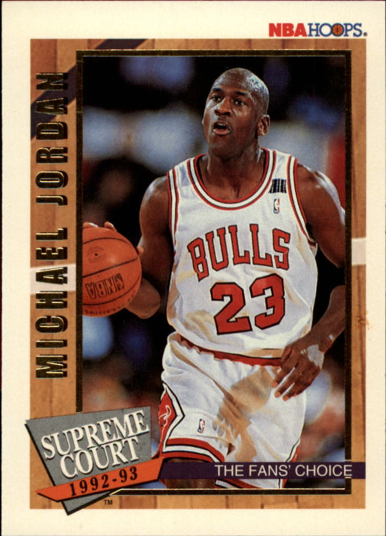 1992-93 Hoops Supreme Court #SC1 Michael Jordan