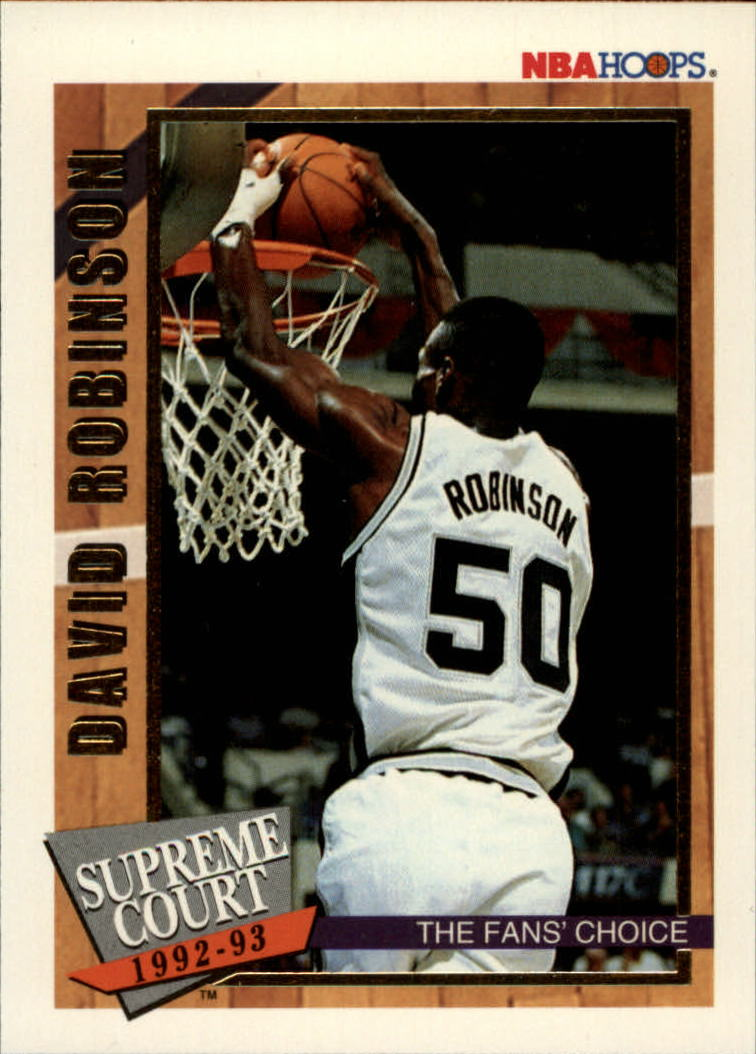 1992-93 Hoops Supreme Court #SC3 David Robinson