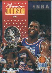 1992-93 SkyBox #310 Magic Johnson AS MVP