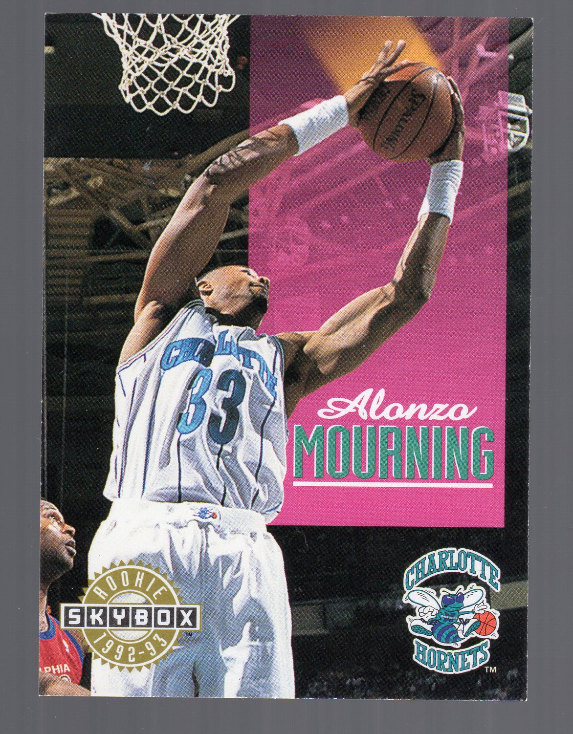 1992-93 SkyBox #332 Alonzo Mourning SP RC