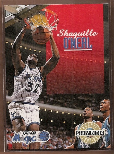 1992-93 SkyBox #382 Shaquille O'Neal SP RC