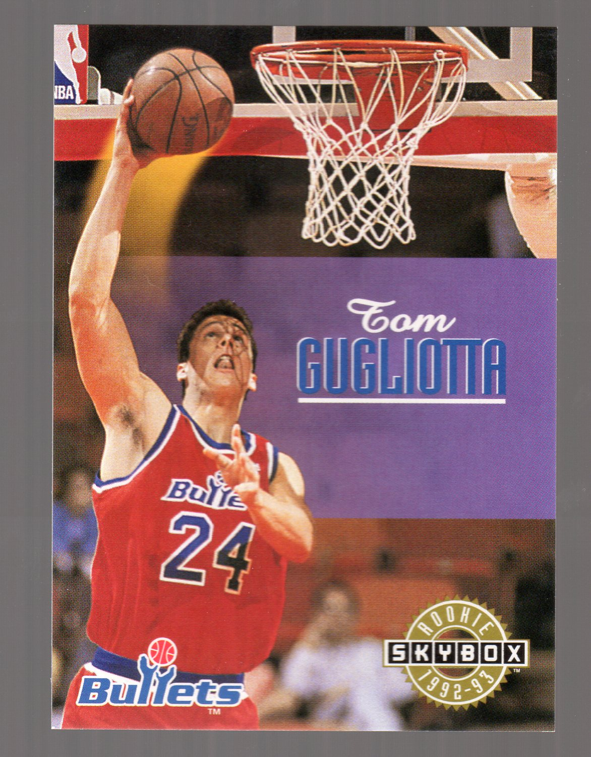 1992-93 SkyBox #405 Tom Gugliotta SP RC