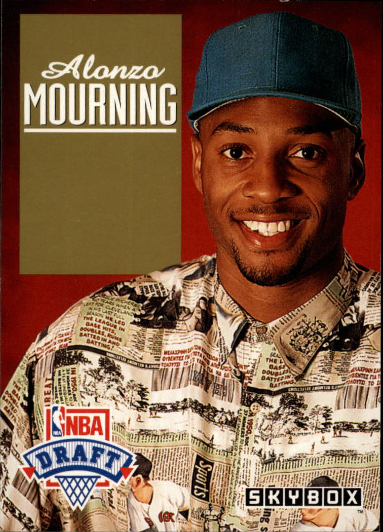 1992-93 SkyBox Draft Picks #DP2 Alonzo Mourning