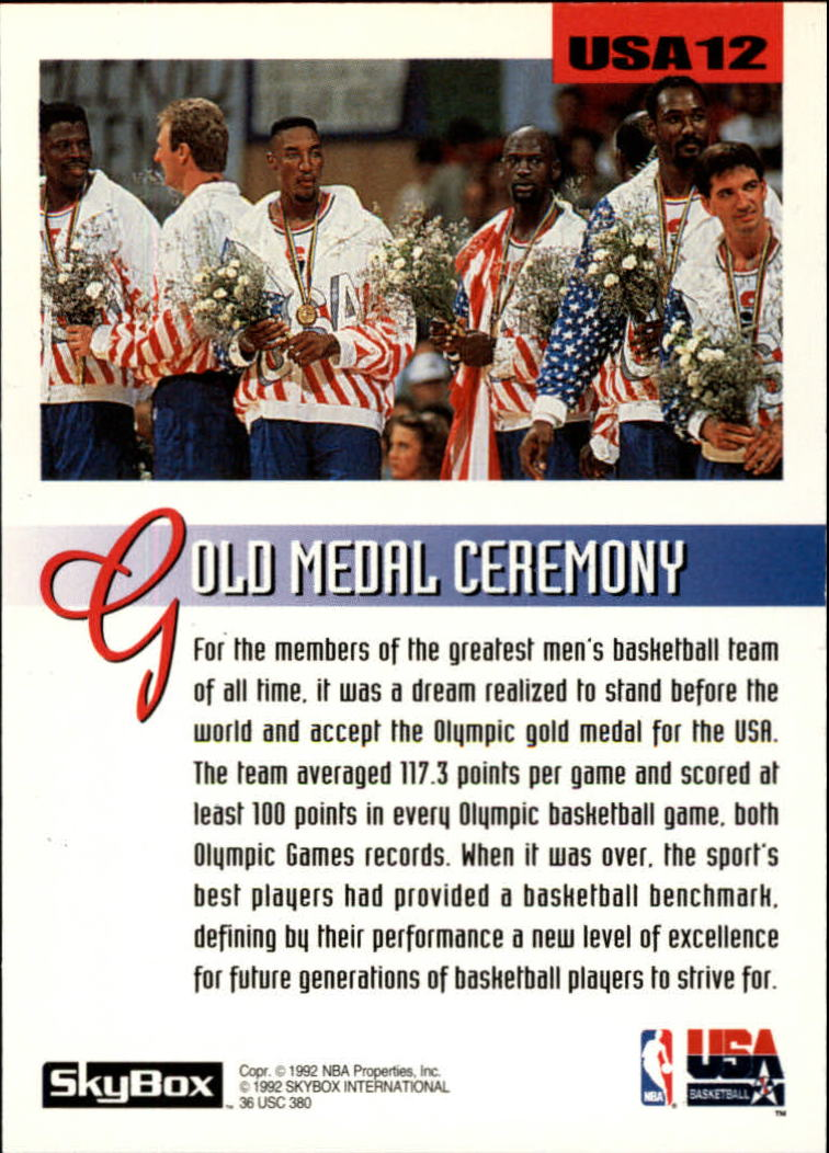 1992-93 SkyBox Olympic Team #USA12 Magic Johnson back image