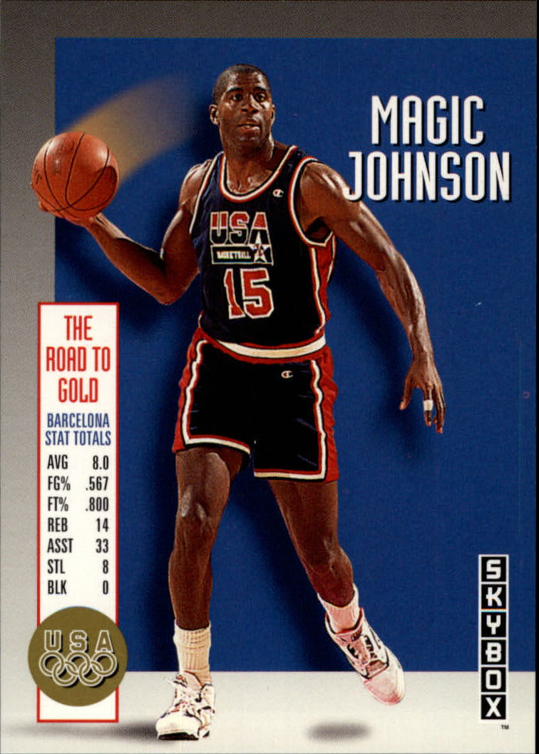 1992-93 SkyBox Olympic Team #USA12 Magic Johnson