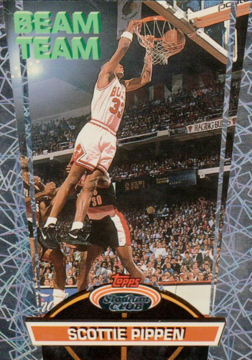1992-93 Stadium Club Beam Team #5 Scottie Pippen