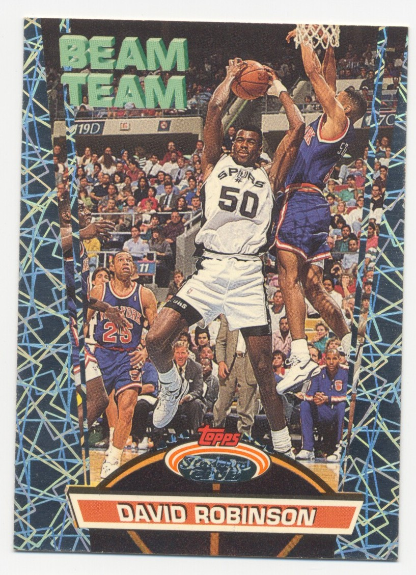 1992-93 Stadium Club Beam Team #20 David Robinson