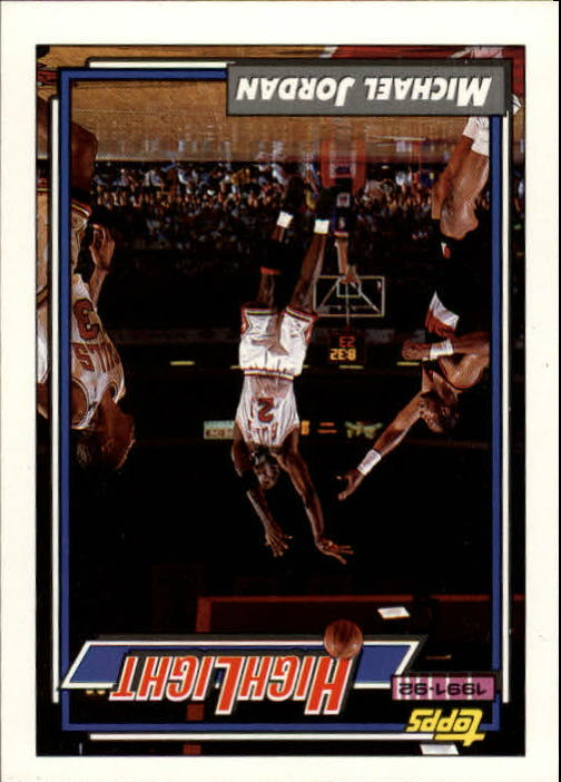 1992-93 Topps #3 Michael Jordan HL/Michael Lights It Up 6/3/92