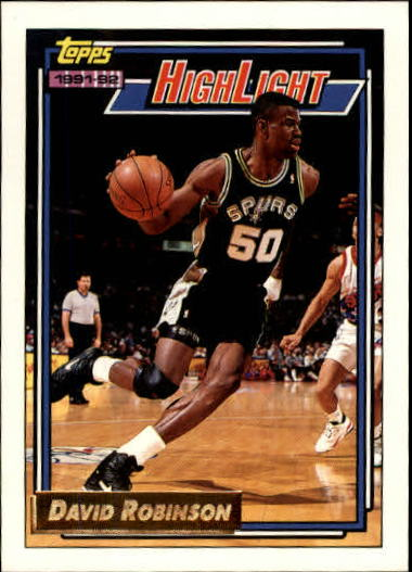 1992-93 Topps Gold #4 David Robinson HL/Admiral Ranks High/In Five 4/19/92