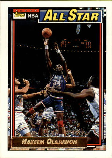1992-93 Topps Gold #105 Hakeem Olajuwon AS