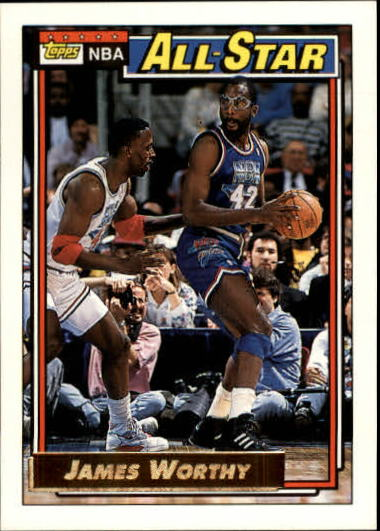 1992-93 Topps Gold #108G James Worthy AS front image