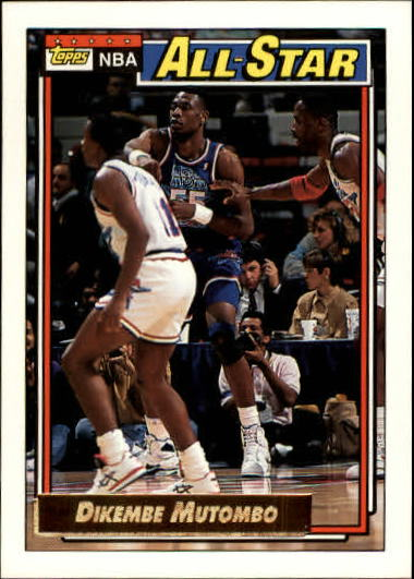 1992-93 Topps Gold #110 Dikembe Mutombo AS