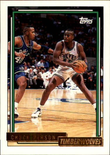 1992-93 Topps Gold #327 Chuck Person