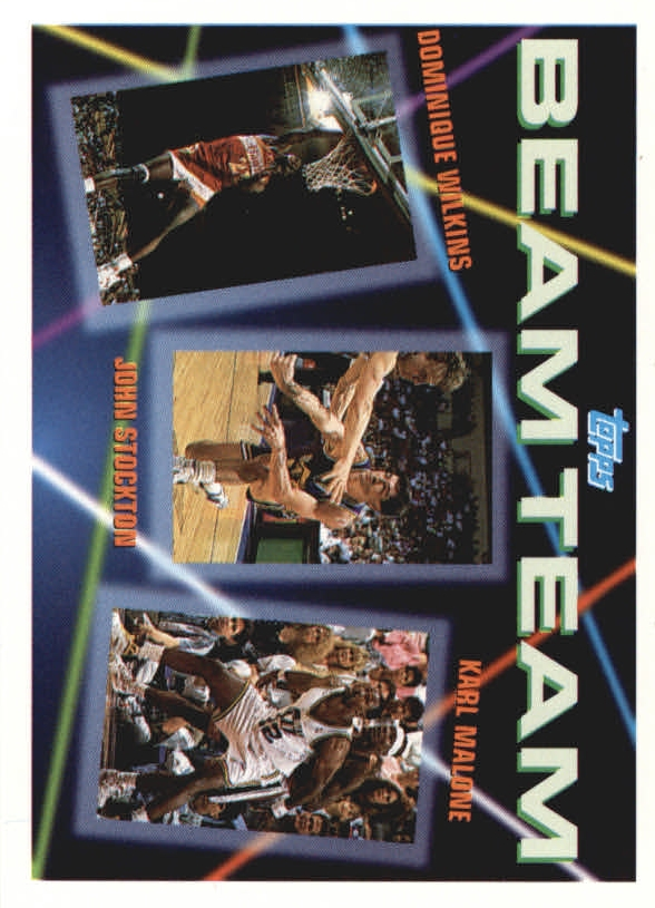 1992-93 Topps Beam Team #4 Dominique Wilkins/John Stockton/Karl Malone