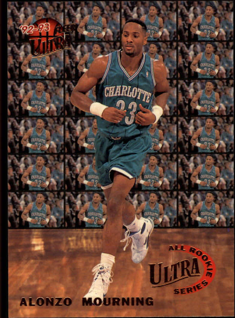 1992-93 Ultra All-Rookies #6 Alonzo Mourning
