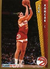 1992-93 Fleer #4A Jon Koncak
