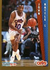 1992-93 Fleer #38 John Battle
