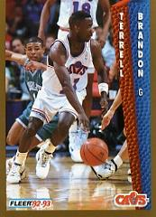 1992-93 Fleer #39 Terrell Brandon
