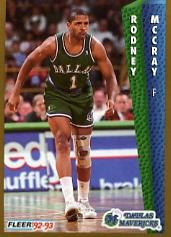 1992-93 Fleer #52 Rodney McCray