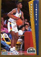 1992-93 Fleer #58 Marcus Liberty