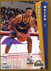 1992-93 Fleer #59 Mark Macon
