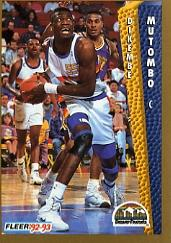 1992-93 Fleer #60 Dikembe Mutombo