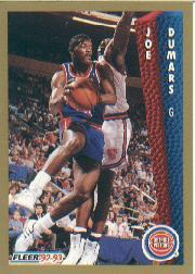 1992-93 Fleer #63 Joe Dumars