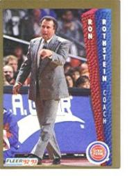 1992-93 Fleer #67 Ron Rothstein CO