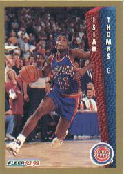 1992-93 Fleer #69 Isiah Thomas