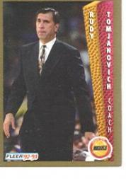 1992-93 Fleer #87 Rudy Tomjanovich CO