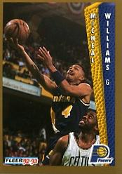 1992-93 Fleer #96 Micheal Williams