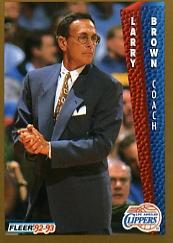 1992-93 Fleer #97 Larry Brown CO