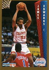 1992-93 Fleer #98 James Edwards