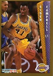 1992-93 Fleer #106 Elden Campbell