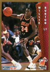 1992-93 Fleer #115 Willie Burton