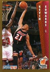 1992-93 Fleer #117 Kevin Edwards
