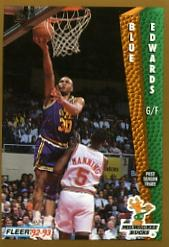 1992-93 Fleer #126 Blue Edwards