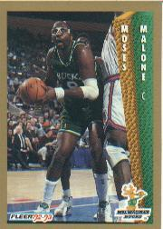 1992-93 Fleer #127 Moses Malone