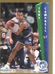 1992-93 Fleer #132 Tony Campbell
