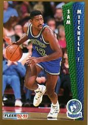 1992-93 Fleer #135 Sam Mitchell