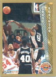 1992-93 Fleer #244 David Robinson LL