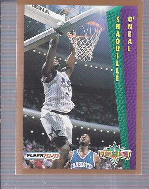 1992-93 Fleer #298 Shaquille O'Neal SD