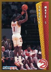 1992-93 Fleer #303 Travis Mays